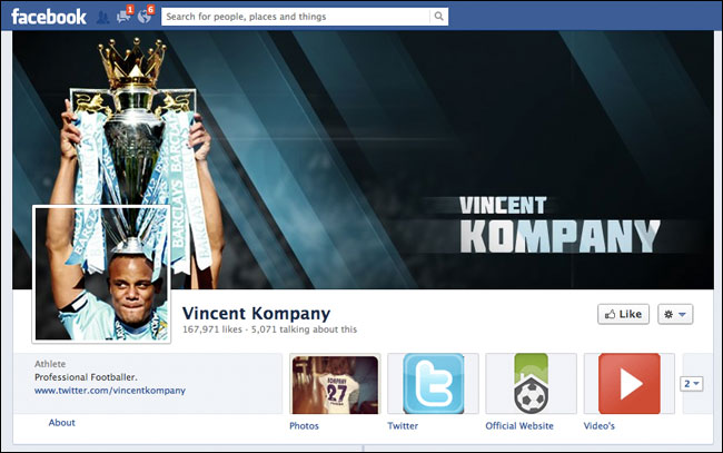 Vincent Kompany Facebook
