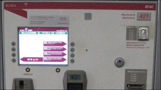 Euroia Rome Ticket Machine