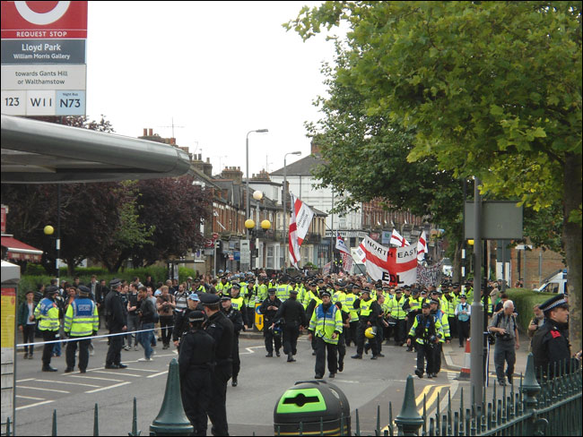 The racist EDL in Walthamstow