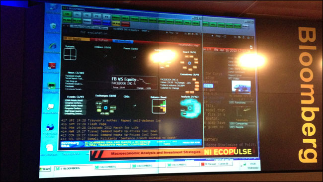 Bloomberg terminal demo