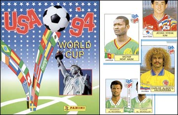 1994 World Cup Panini stickers and album