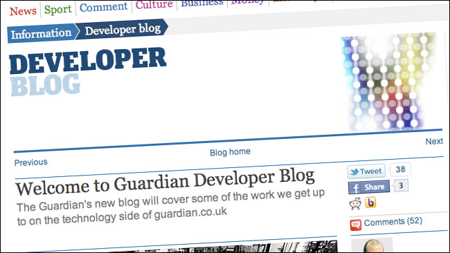 The Guardian's new Developer Blog