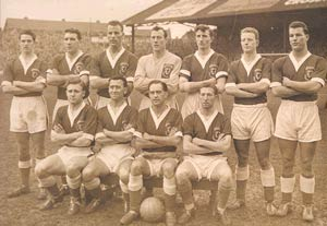 The Wales team that played Israel to qualify for the 1958 World Cup Finals