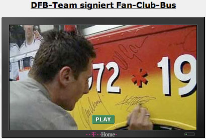 A clip from DFB-TV about signing a bus