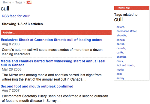The Mirro's 'cull' tag