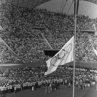 Memorial service during the 1972 Olympic Games
