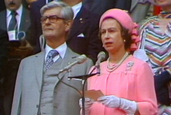 The Queen at the 1976 Montreal Games