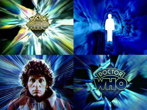 Doctor Who titles credits montage