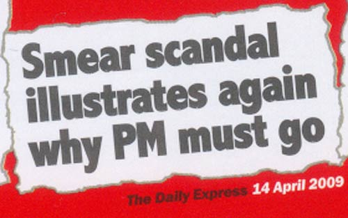 Smear story in the Conservative's election leaflet
