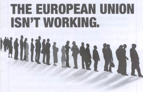 No2EU party leaflet