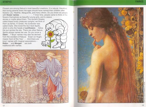 I-Spy page on skimpily clad nymphs and fairies