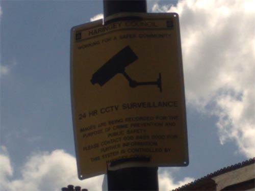Another CCTV sign