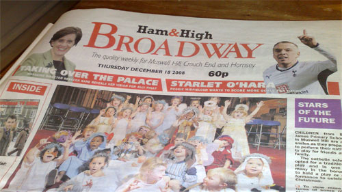 Ham & High Broadway front page