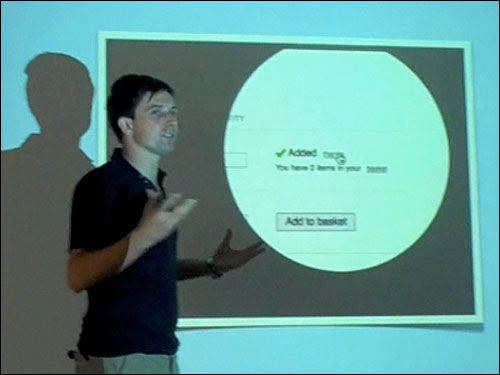 James Box and a video clip demonstrating an interaction design