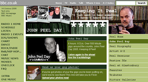 John Peel Day on the Radio 1 site