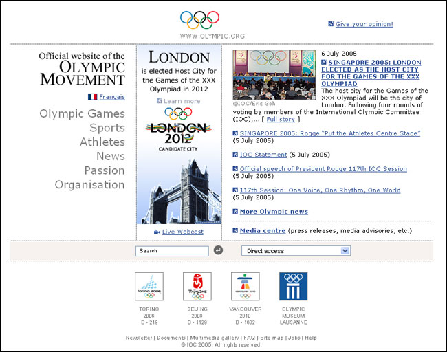 IOC website
