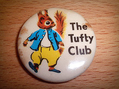 Tufty the Squirrel badge