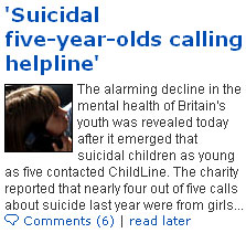 Suicidal Daily Mail headline