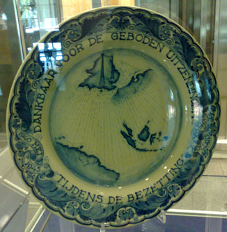 Dutch plate presented to the BBC