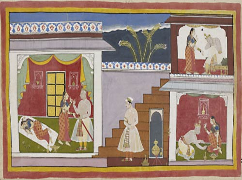 A page from an illustrated edition of the Ramayana