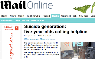 The Mail's suicide generation