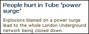 Early reports of power surges on the London Underground