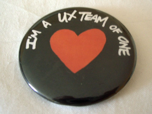 UX team of one badge