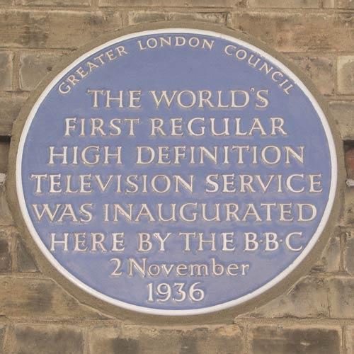 BBC TV blue plaque