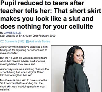 Daily Mail pupil article