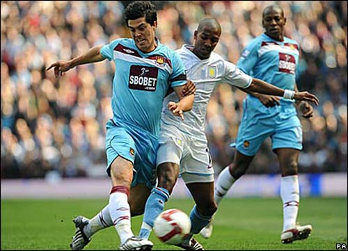 Picture from West Ham vs Aston Villa