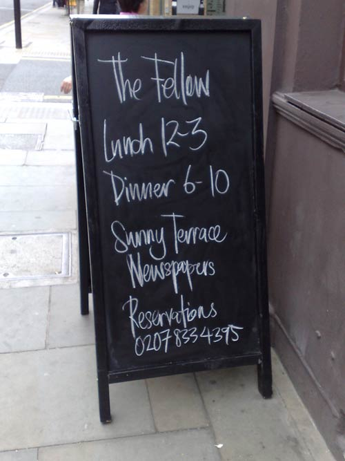 Sign for The Fellow