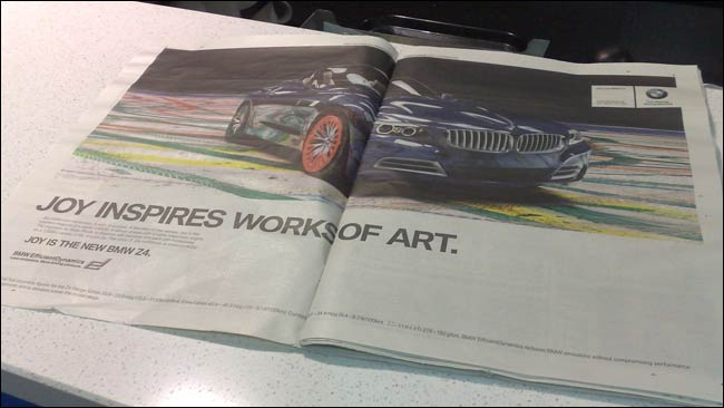 BMW spread in the Standard