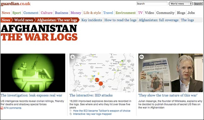 Guardian.co.uk Afghanistan War Logs tag page