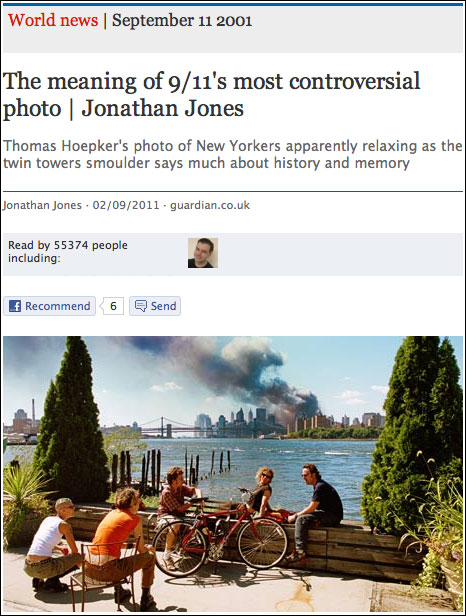 9/11 photography article in Facebook app