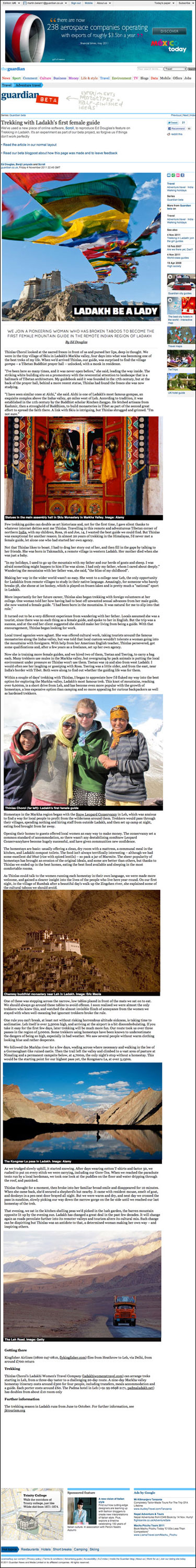 Ladakh article published using Scoll