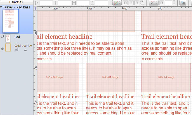 The red base for my 3D wireframes