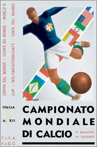 Italy 1934 - World Cup poster