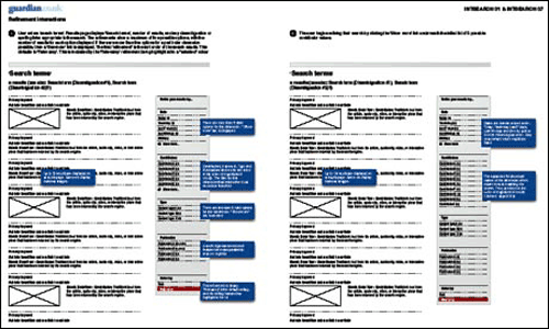 2008 Guardian search wireframes